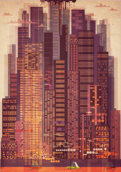 ryanpanos:  TALL TOWN by James Gilleard