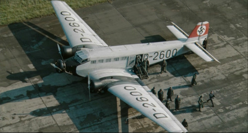 More Wings of War at the Movies…Image #1: A Junkers Ju-52 in the livery of Hitler's personal plane from the 2008 movie 'Valkyrie'