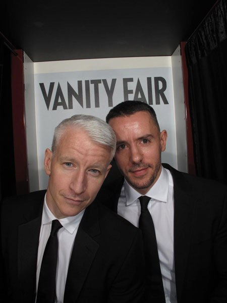 Anderson Cooper and Ben Maisani at the 2012 Vanity Fair Oscar party. See more cute and candid photo booth pics here.