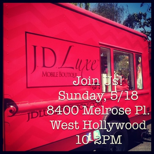 Tomorrow! 8400 Melrose Pl. in #Weho! From 10-2PM! Lots of new goodies! 🎀 #jdluxe #shopping #sundayfunday #fun #events #fashion