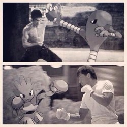 #brucelee #karate #pokèmon #hitmonlee #hitmonchan by stefan_iz_cewler_than_you http://bit.ly/14v8QcY