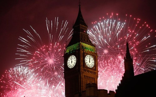 Spectacular Fireworks in London .. Welcoming 2013