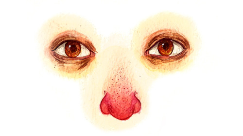 alyceatinoyan:  Sketchbook painting done in watercolor! Nosessssssss.