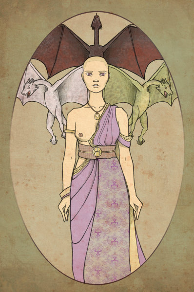 (via Mother of Dragons by ~mustamirri on deviantART)