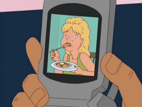 "hotanimegirl:  ""Have you seen this picture of Luanne eating pancakes?"""