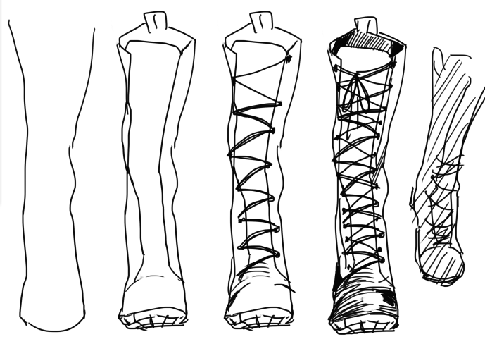 how to draw boots front view - photo #6