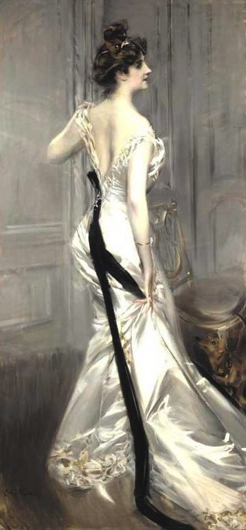 artmastered:  Giovanni Boldini, The Black Sash, c.1905