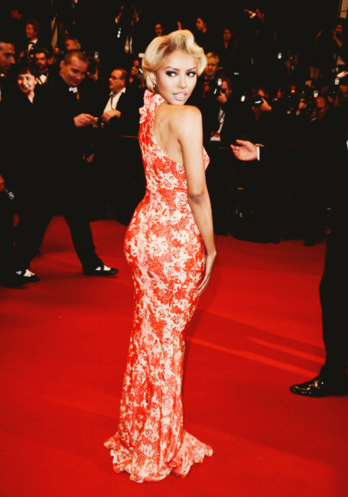 CANNES, FRANCE - MAY 22: Kat Graham attends the Premiere of 'Only God Forgives'