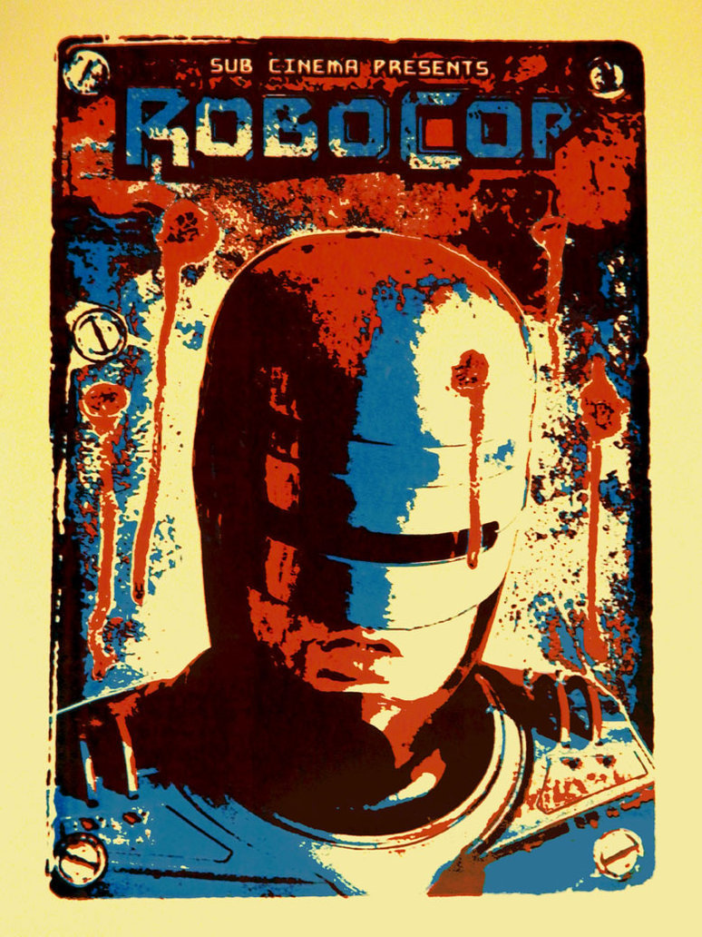 "wanjavi2:  Robocop by r-k-n 15.5"" X 23.25"" 2 color screen print, edition of 50. Available HERE. xombiedirge"