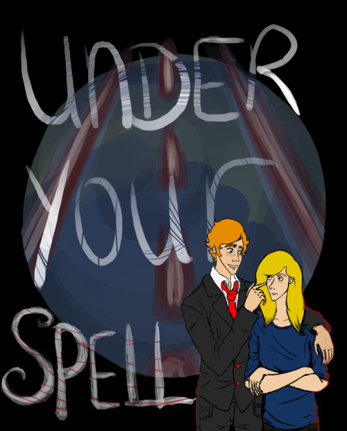 So, my webcomic begins tomorrow! This is Aidan and Amy, and the cover for the first issue. I'll be updating every Wednesday for those interested!  I'm Under Your Spell I'll be posting the pages at my comics blog, practisemakescomics