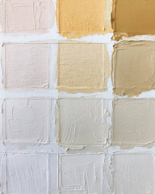 color palette @satsukishibuya painting paint acrylic oil canvas color mood yellow ig