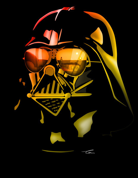 Darth Vader - by Tom Brodie-Browne Prints available at Society6