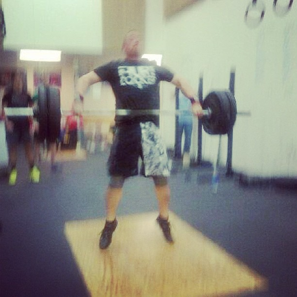 Humbling day for me. During a little informal #crossfit competition one WOD was a team test of strength. 1 does 1RM jerk ladder and the other does a snatch. While I matched my PR of 185 it really opened my eyes to how much I have to learn about technique. Strength will carry you a long way but strength combined with technique will carry you much further. All of my snatches were power snatches. I need to work on getting under the bar in a squat and feel confident that I will be able to increase my PR much more then. I am very appreciative of all the coaching and tips today. #crossfit #hurtlocker #hurtlockerapparel @goldsgymhenrycounty @jagganes #fitness #wod #exercise #snatch #pr
