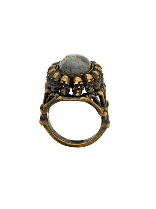 House of Harlow 1960 Oval Skull Ring