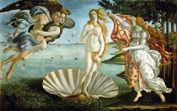 cavetocanvas:  Sandro Botticelli, Birth of Venus, 1484-86