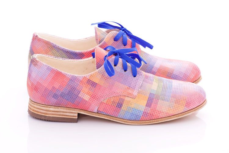 Pleasemachine Ah! Pastel Pixel Women's Oxford Shoes
