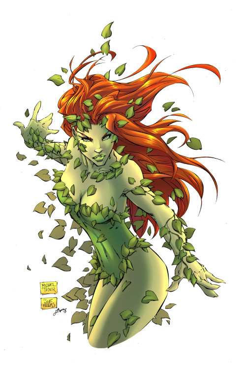 Colored this amazing Poison Ivy sketch by Michael Turner tonight.  I just needed to take a break and do something a bit different.  It was so much fun.  I'm going to have to take time to do little practice pieces like this a lot more in the future. ^_^ Pencils: Michael Turner  Inks: Joe Weems