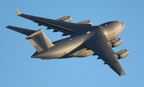 Avalon 2013…Australian International Air Show Pictures #3: A RAAF C-17 Gobemaster III in flight