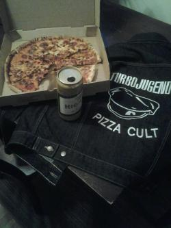 apocalypsedudes:   Turbojugend Pizza Cult!! This is my life - denim, beer and pizza.