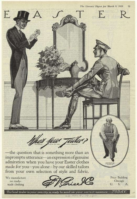 Easter: Who's Your Tailor, 1918 via The New York Public Library