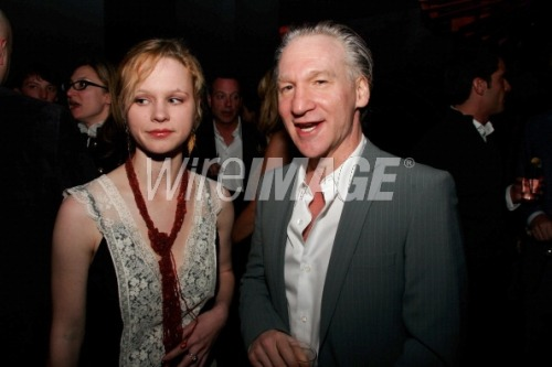 oldloves:  Thora Birch & Bill Maher  What?!