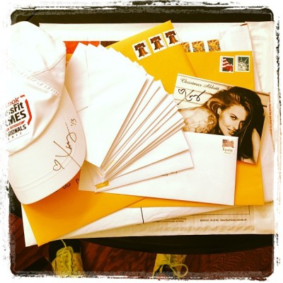 Fan mail being addressed! If you sent something or requested something…it's in route! :D If you want something please send it to: 19706 One Norman Blvd. Suite B #263, Cornelius, NC 28031