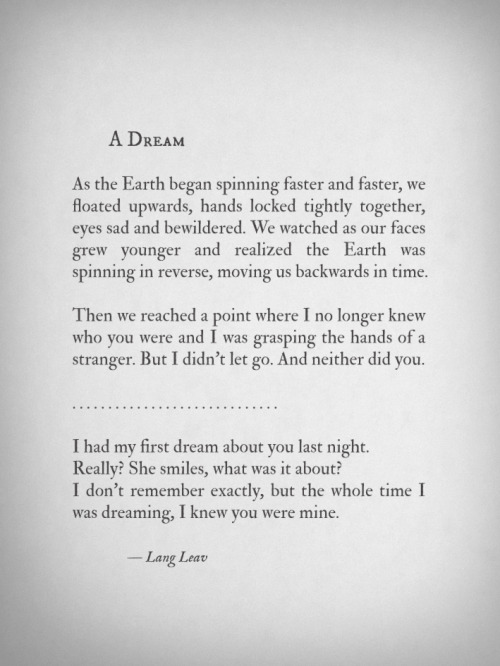 langleav:  A Dream by Lang Leav