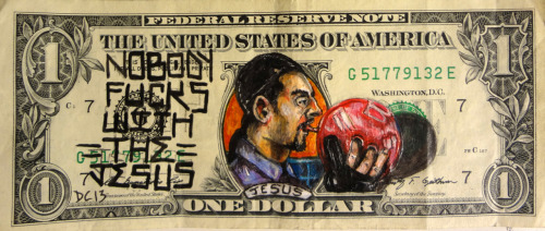 donovanclark:  The Jesus From the big Lebowski Money art By Donovan Clark