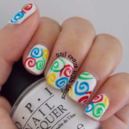 Colorful swirls #funnails #cutenails #colorfulnails #OPI #nails #girly #instalike #instagood #instafollow #followme #followers #follow #followfollowfollow #shoutout #shoutouts #nailcrazewithdayze