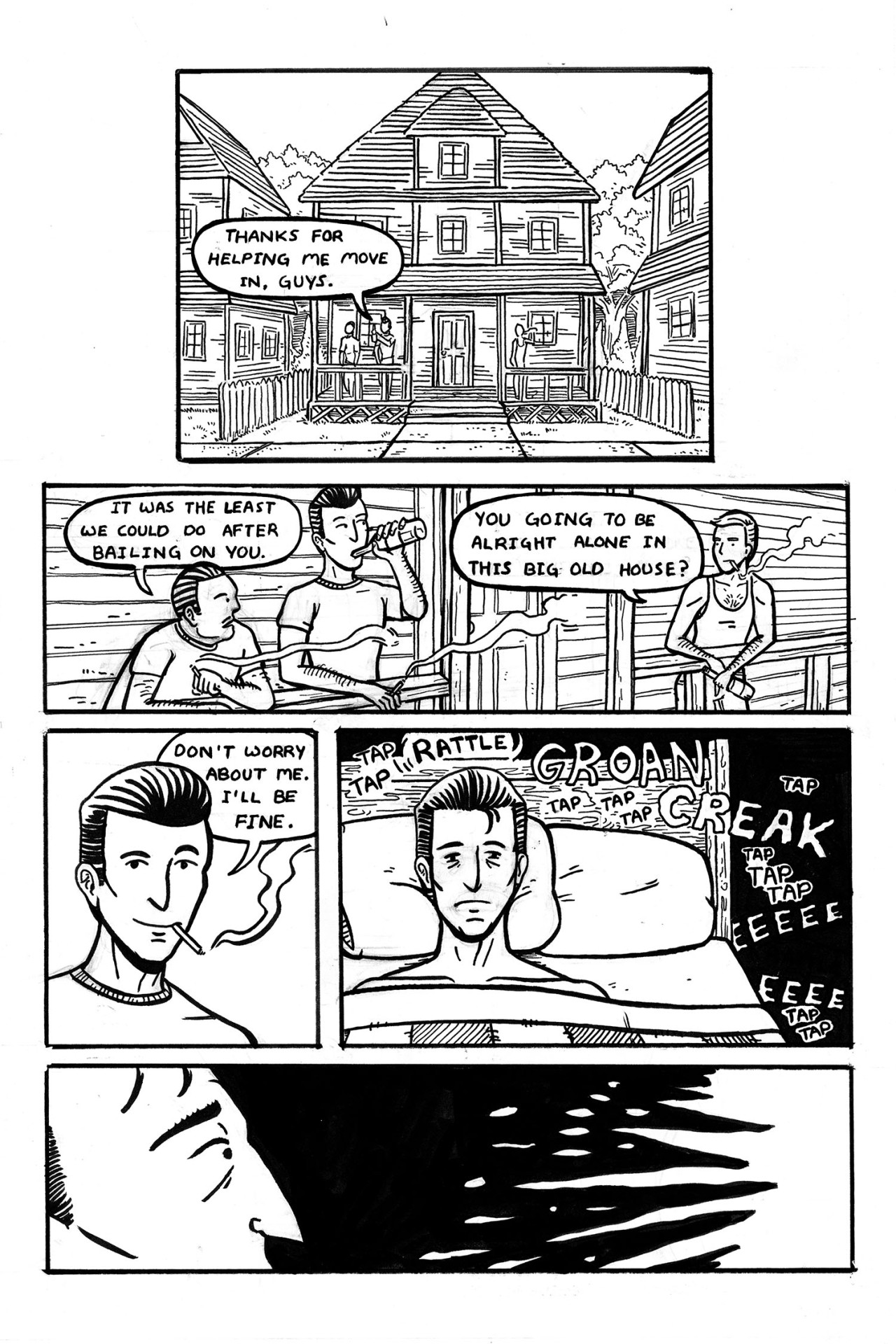 The Man Who Lives Alone My Intro to Comics final about ghosts and love.