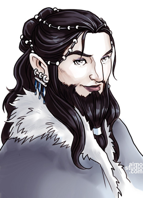 thebravehobbit:  momochanners:  Dís, younger sister of Thorin Oakenshield, mother of Fili and Kili. —- Based her face on Richard Armitage's features and facial structure. So in a way, one can take this as a genderbent Thorin ;D  This is the best thing I have ever seen in all my years of dwarf-loving LOOK AT HER PRETTY BEARD
