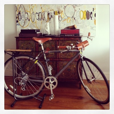 Bike love #NewWheels #BrooksEngland #Leather