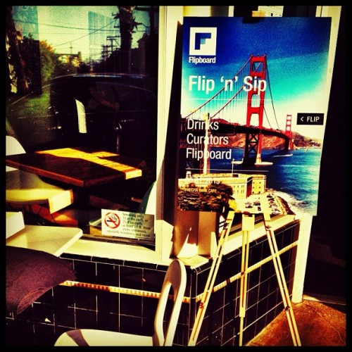 Almost ready for the Flipboard Flip 'n' Sip #flipnsip #sanfrancisco #igerssf  (at Precita Park Café)