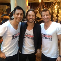 2013 CLEO BACHELOR OF THE YEAR LAUNCH - REUBEN MOURAD, DARREN MCMULLEN & LUKE JACOBZ Reowww.. is it getting hot in here or what? Cue the fluttering of women's hearts across the nation as Cleo magazine has exposed the 50 most eligible men in the country. In Cleo's 26th year of bachelor celebration with new editor Sharri Markson, Australia's hottest property comes in the forms of actors, sportsmen, reality stars, scientists, businessmen, farmers, the press secretary for Tony Abbott and the first openly gay bachelor! You name it, and Cleo's got it - in its latest 'Bachelors' issue with new international columnist Kelly Osbourne on the cover. Earlier this week, the top 50 boys were announced at an exclusive media launch, and 'I Am Starstruck' was there to chat to the top 50 hotties.  Check out our video interviews HERE ! FYI: We'll also be featuring profiles of the boys on 'I Am Starstruck' in the next few weeks so you can get to know them a little bit better (and have an extra perve)! The Verdict: Four words - TOO HOT TO TROT ! Image Source: Reuben Mourad Instagram
