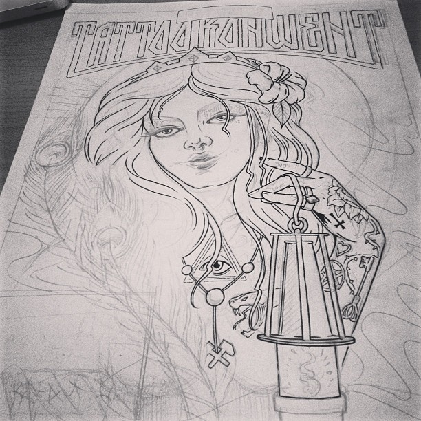 #tattoo #konwent #katowice 2013 #inprocess #illustration #sketch #ink #poster