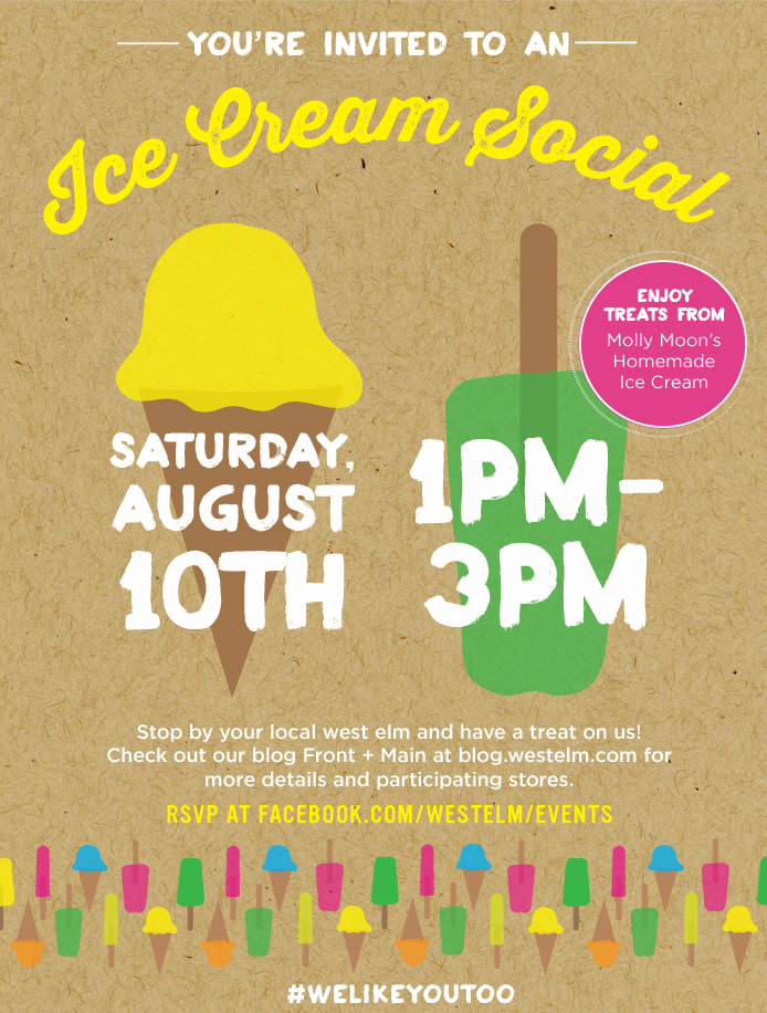 [ FREE FUN ] If you're around Seattle Saturday, August 10th, there is some great free stuff happening in the South Lake Union neighborhood. West Elm will be giving away free scoops of Molly Moon's ice cream(though I'm partial toIce Cream Social's ice cream. Unfortunately, they're all the way in Tacoma, so it's a much rarer treat). Stick around until 9pm and catch a free outdoor movie at Lake Union Park. These are happening every Saturday night for the month of August. The movie selected for the night of the 10th is The Goonies! If you want to kill time between the events you could stop bythe new[ish] MOHAIlocation. We've never been, and I've been wanting to see the Celluloid Seattle exhibit there, especially since I discovered that it was curated by film critic Ro