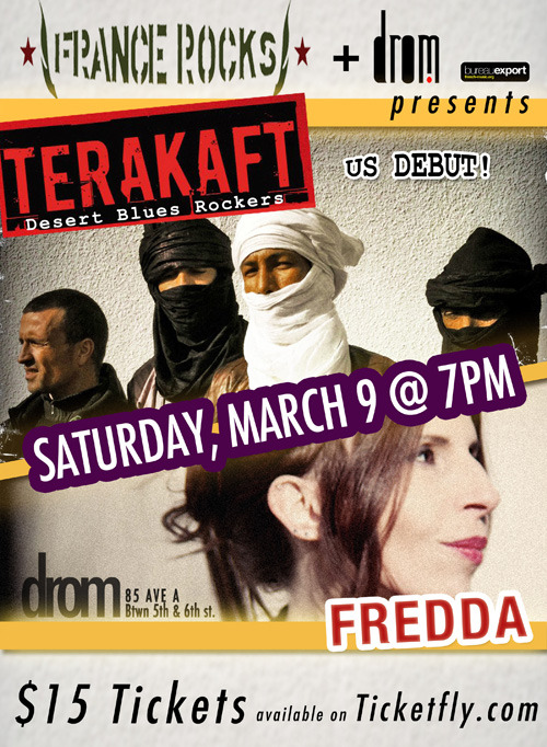 (via Terakaft + Fredda - dromNYC.com) Get your tickets to see Terakaft in New York!