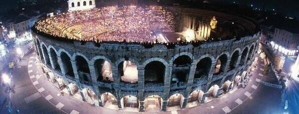 i-luv-nialler:  An outside view of the arena… Simply breathtaking.