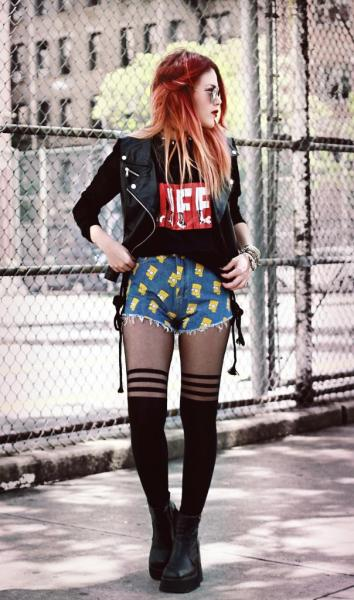 "fashionpassionates:  Get yours: BART SIMPSON SHORTS Shop FP | Fashion Passionates ""get your fashion fix with fashion passionates!"""