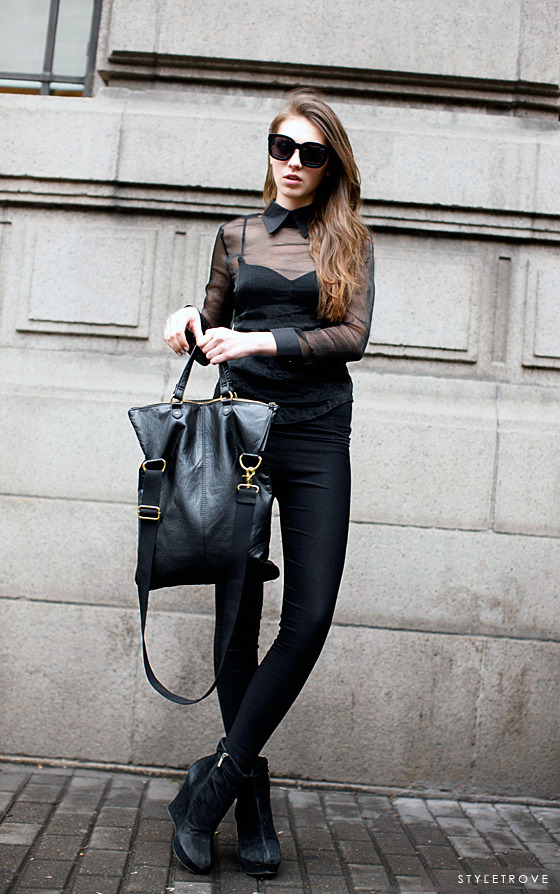 styletrove:  STYLED: Black-on-black modern chic.