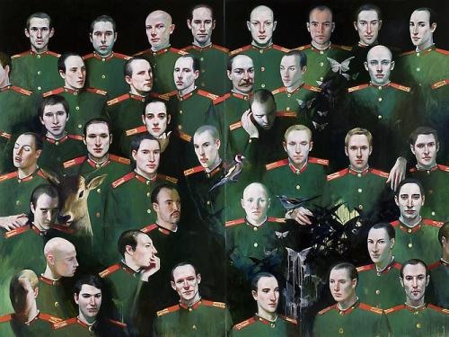darksilenceinsuburbia:  Natacha Ivanova. The Soldiers, 2007. Oil on canvas, 194 x 259 cm.