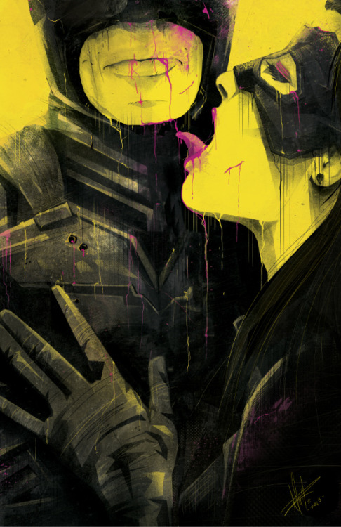 My Funny Valentine Batman and Catwoman illustrated by Marie Bergeron :: via mariebergeron.wordpress.com