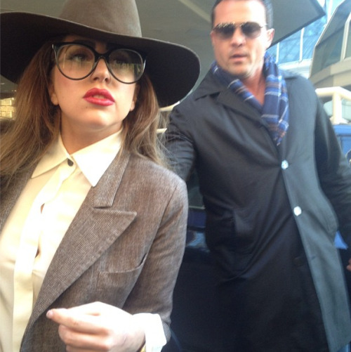 Lady Gaga in Vancouver, Canada today. Photo taken by Canadian model Sara Nazeman.