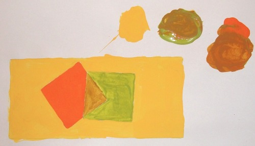 Homage to Josef Albers No Date Jim Linderman Acrylic on Paper