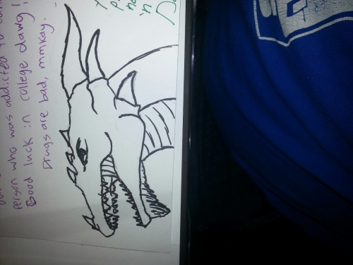I signed my friend's yearbook with a picture of a dragon.