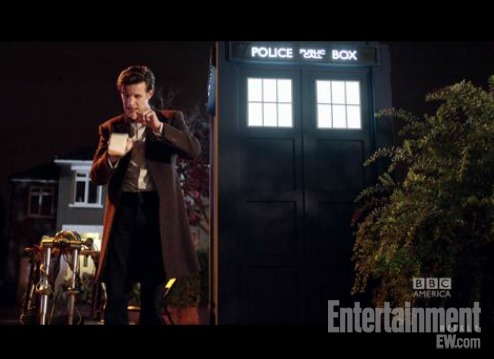 "How can you see Matt Smith's Doctor and Jenna Louise-Coleman's companion Clara being very cute together in the new Doctor Who adventure, ""The Bells of Saint John""? Well, you could steal a TARDIS, Doctor-style, and travel forward a week and a half to 8 p.m. ET, March 30. Or you could watch the exclusive clip by visiting EW.com. Your choice!"