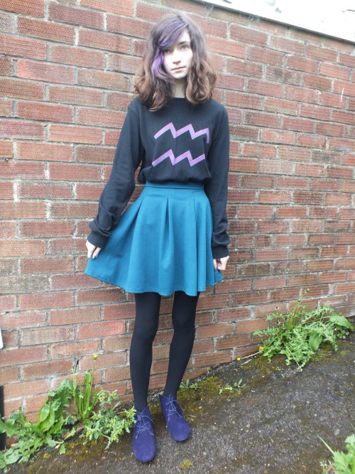 solluxcaptor:  eridanthegay:  solluxcaptor:  I love this outfit, it makes me feel a little like human female Eridan ;U;  lOUD SCREAMING YOU'RE SO ADORABLE AAAAAAAAAAAA  aaaa thank you!! <3