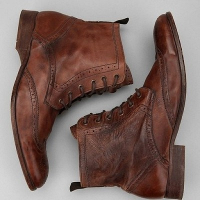 paulparkman:  #mens #brown #leather #wingtip #boots #fff #menstyle #footwear #fashion