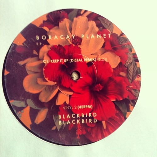 "My remix of ""keep it up"" from @blckbrdblckbrd and @omrecords on 12"" vinyl. Picture 2 - label"