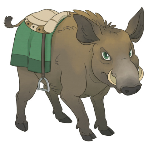 sharkchel:  Got the pet name Boar on Subeta the other day for the pig-type pet I've always wanted :)  It's too bad Subeta has no pig pets, he's a Hipottu for now.  Anyway here's his wild boar steed design.